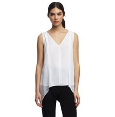 Madison Split Chiffon Blouse - Kenneth Cole
