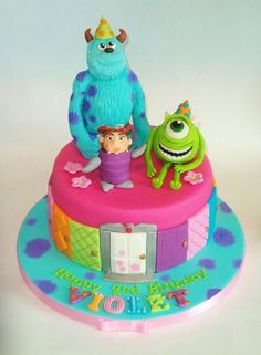 Monsters Inc. - by stacemandu @ CakesDecor.com - cake decorating website