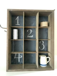 DIY Chalkboard Wall Cubbies www.homeroad.net