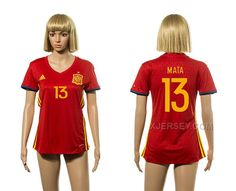 http://www.xjersey.com/spain-13-mata-home-women-euro-2016-jesrey.html SPAIN 13 MATA HOME WOMEN EURO 2016 JESREY Only 33.11€ , Free Shipping!