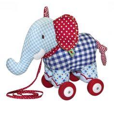 Babyglück Elefant auf Rollen Little Boy Toys, Toys For Boys, Little Boys, Backrest Pillow, Softies, Baby Strollers, Dinosaur Stuffed Animal, Elephant, Dolls