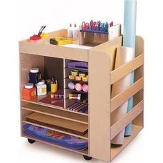Whitney Brothers Mobile Art Supply Cart (WB0285)