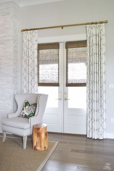 Curtains can not only frame a window,  but they can give your home that cozy, finished feel I think we all crave.