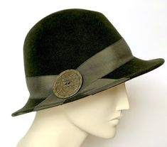 b2603bc586d34c Green Felt Women's Fedora Small Brim Hat