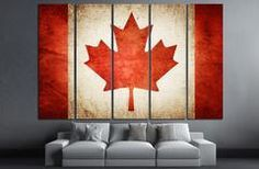 Canadia Flag Canvas Print