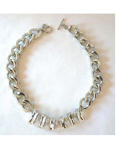 The Silver Pave Bib by JewelMint.com, $42.00