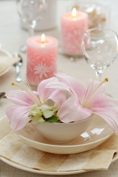Wedding Recpetion Candle Ideas