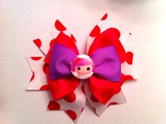 Lalaloopsy Peanut Big Top hair bow by ChasenLondon on Etsy, $8.00