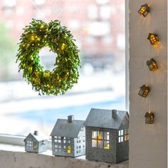 Small $14.99 Beekman 1802 Heirloom Holiday Galvanized Metal House, Small 3 out of 4