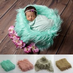 Dependable Blue Posing Fabric Curly Felt Wool Blanket Plush Newborn Fur Basket Stuffer Flokati Rug Newborn Props Layering Fabric Luggage & Bags