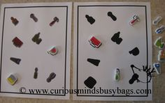 Tool Match Puzzle Busy Bag - Visual Discrimination Practice  Tool puzzle match busy bag. You get one laminated double-sided page (both sid...