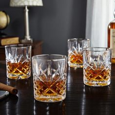 Enjoying a fine glass of whiskey is one of life s finest luxuries. Make sure to enjoy it with equally fine glassware, such as our Dublin Platinum double old fashioned whiskey glass set. These whiskey glasses are crafted from intricately-cut crystal and have a striking, hand-painted platinum rim. Whether recounting your latest round of golf with friends or simply unwinding in your study after a long day at the office, these whiskey glasses bring distinction to your bar service. Coming as a…