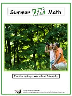 Summer Camp Math concerns basic math skills. Lessons such as Casies Group Camping Items Graph Questions, Camp School & Wilderness Fraction Math involves bar graphs and fractions.  Lesson activities can be completed as a whole group or small group with the instructor using adobe reader and a SmartBoard, white board, projector or document camera as learners easily follow along.