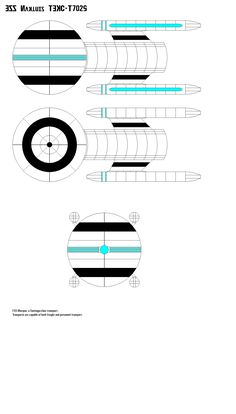 Raw 2D Sketch showing port, dorsal / ventral and fore views of FSS Marquis TFRC-T1024 (PUS), powered. Federation Star Ship Nemesis, Terran Federation Registry Code - Transport 1024.