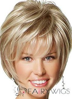 Special Cool Short Straight Blonde 10 Inch Human Hair Wigs : fairywigs.com