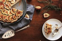 whipped mascarpone and fig pie