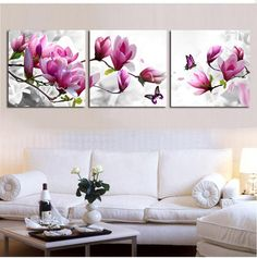 Cheap diamond painting, Buy Quality diamond embroidery directly from China diy diamond embroidery Suppliers: Triptych diy Diamond Embroidery Drill diamond Painting Wall Art orchids Decoration pictures on the wall sitting room Crafts Diy Bordados, Modern Wall Paint, China Crafts, Decorating With Pictures, Decoration Pictures, Mosaic Crafts, Wall Art Pictures, Diy Painting, Painting Flowers