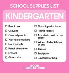 The Ultimate Back-to-School Shopping Lists From Kindergarten to College…
