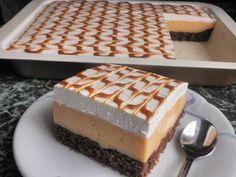 Nedeľné karamelové rezy od Danulky | Báječné recepty Tiramisu, Cheesecake, Nail Designs, Food And Drink, Sweets, Meals, Baking, Ethnic Recipes, Pinterest Food