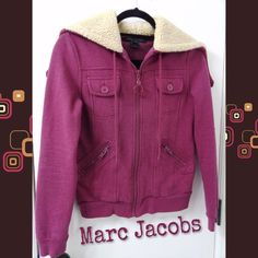 🎉2X HP🎉Marc Jacobs Hoodie Perfect condition. Super cute and warm. Wear it on a camping trip, on campus or for weekend errands. The color is somewhere between burgundy and plum. Smoke/pet-free home. 💞Thanks for checking out my closet!💞 Marc Jacobs Jackets & Coats