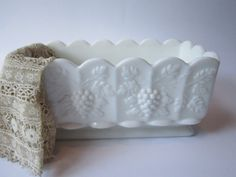 Vintage Westmoreland Milk Glass Paneled Grape by mymilkglassshop, $29.50