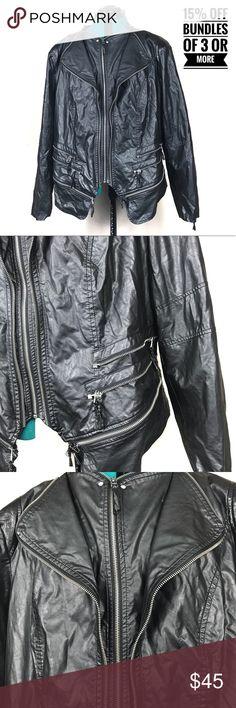 9b902dc8efcd4 Torrid Moto faux leather jacket 3x Torrid faux leather Moto jacket. Black  with lots of