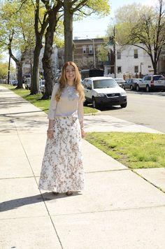 Mi Mirada esta en Ti #modest #fashion #maxiskirt #f21 #floral