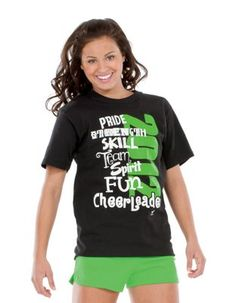 Cheer Attribute Tee Show your cheerleading attributes in the 2012 cheerleader tee! Basketball Cheers, Football Cheer, Cheer Camp, Cheer Coaches, Cheer Dance, Cheerleading Company, Cheerleading Shoes, High School Cheer, Dance World