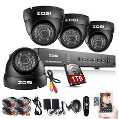 258.99$  Buy now - http://alic7o.worldwells.pw/go.php?t=32601915817 - ZOSI CCTV Kit CCTV System 8CH HDMI 960H Onvif CCTV DVR with 1TB HDD+ 4X1000TVL Security Outdoor Camera Home Surveillance System 258.99$