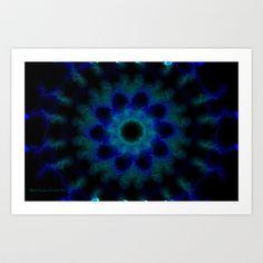 Blue Mandala Art Print by Marisa Lopez-Cruzan - $15.60