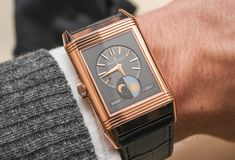"""Jaeger-LeCoultre Reverso Tribute Calendar Watch Hands On - by Zach Pina - More on this rose gold tribute a classic at: aBlogtoWatch.com - """"Bucking the current trend in watchmaking where 'old' is hot, but 'too-old' is not, the Jaeger-LeCoultre Reverso spent the year celebrating its 85th birthday with the Tribute Calendar announced at SIHH 2016 – a fully modern, yet carefully preserved icon that we recently had a chance to experience..."""""""