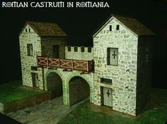 Roman Castrum In Romania - by Papermau