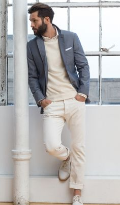 Men's blazer looks! From casually stylish to work wear - great men's fashion inspiration