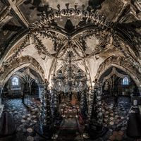 Amazing but little scary interiors in the Sedlec ossuary