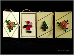 Christmas Tags - Quilled Creations Quilling Gallery