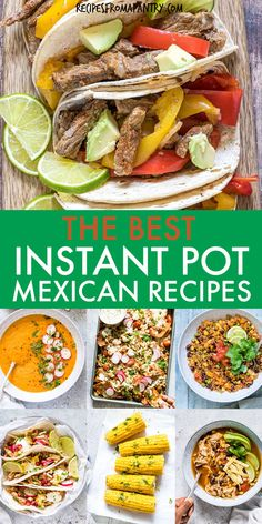 This collection of 23 Instant Pot Mexican Recipes includes everything from appetizers, soups, sides, main dishes & desserts. Whipping up delicious dishes full of authentic Mexican flavor in the Instant Pot is SO quick and easy! Perfect for Cinco de Mayo or Day of the Dead celebrations or taco tuesday, meal prep and some are freezer friendly. Click through to get these awesome recipes!! #instantpot #instantpotrecipes #pressurecooker #mexicanrecipes #cincodemayo #dayofthedead #mexicanrecipes School Lunch Recipes, Potluck Recipes, Supper Recipes, Side Recipes, Best Instant Pot Recipe, Instant Pot Dinner Recipes, Quick Dinner Recipes, Dump Meals, One Pot Meals