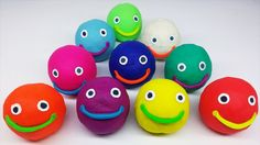 Play and Learn Colours with Play Dough Smiley Face Zoo Animal Molds Fun ...