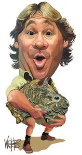 Steve Irwin (Aussie) Born Stephen Robert Irwin - 22nd February 1962. Essendon, Victoria, Australia - Died 4th September 2006 (aged 44) - (Dunway Enterprises) http://dunway.com - http://masterpaintingnow.com/how-to-draw-everything?hop=dunway