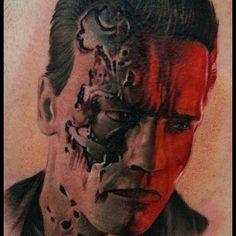 Tattoo by Remigijus Cizauskas at Remis Tattoo Love Tattoos, Tattoo You, Body Art Tattoos, Tattoos For Women, Tatoos, Portrait Tattoos, Terminator Tattoo, Mobile Art, Body Modifications