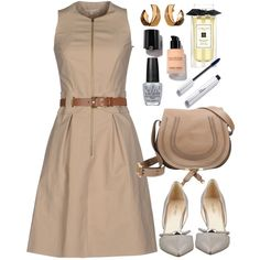 Michael Kors short dress by thestyleartisan on Polyvore featuring мода, Michael Kors, Nine West, Chloé, Alice Joseph Vintage, Jo Malone, OPI and saddleup