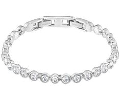 Swarovski Tennis Bracelet, White, Rhodium Plating White Rhodium-plated c872a80c66d1