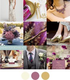 More plum and gold inspiration.