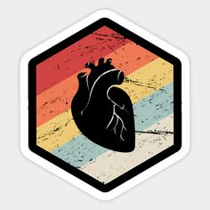 Shop Retro Vintage Heart Doctor Cardiologist cardiologist stickers designed by MeatMan as well as other cardiologist merchandise at TeePublic. Tumblr Stickers, Cool Stickers, Funny Stickers, Printable Stickers, Laptop Stickers, Posters Vintage, Retro Poster, Journal Stickers, Planner Stickers