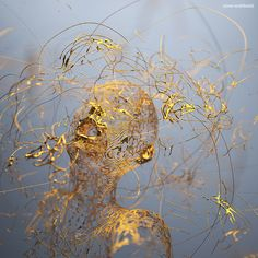 Adam Martinakis – Golden Boy digital art with the feeling of kintsugi repair, and a little #butoh found on sangbleu.com, sourced to artist at adamakis.blogspot.gr sdc