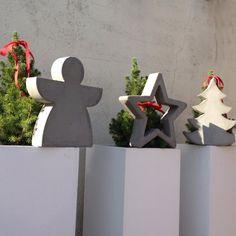 Beton in Form von BetoninForm Concrete Casting, Concrete Cement, Concrete Design, Cement Art, Concrete Crafts, Concrete Projects, Christmas Love, Christmas Crafts, Christmas Decorations