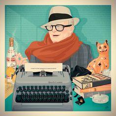 Truman Capote - Life Behind Words #illustration #digitalart #digitalillustration #ilustracao #trumancapote #capote #breakfastattiffanys #incoldblood #othervoicesotherrooms #vodka #screwdriver #typewriter #books #literature #studio54 #marceloalmeida #marceloalmeidaillustrations