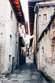 Inside the winding streets of Courmayeur, Italy www.teamstarnes.com