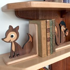 - Description - Contents - Dimensions - Material - Part of the Classic Heirloom Collection, our finely handcrafted Fox Wooden Bookend is a perfect gift for a new mom or baby. Our unique mixed wood com