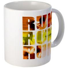 RUN Mugs #running #coffee #mugs