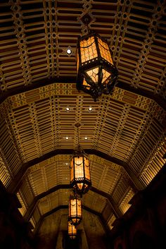 Ceiling and Light Fixtures, Lobby, Hollywood Tower Hotel, MGM Studios, Walt Disney World, Orlando, Florida.